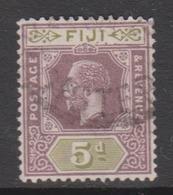 Fiji SG 236 1922 King George V 5d Purple And Green,used - Fiji (1970-...)