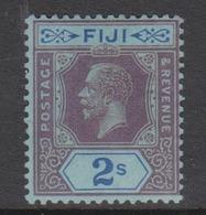Fiji SG 239 1927 King George V 2S Purple And Blue ,mint Hinged - Fiji (1970-...)