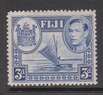 Fiji SG 257 1938-55  King George VI 3d Blue,Mint  Never Hinged - Fiji (1970-...)