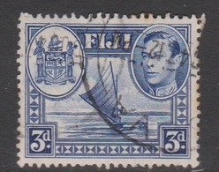 Fiji SG 257 1938-55  King George VI 3d Blue,used - Fiji (1970-...)