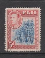 Fiji SG 258 1938-55  King George VI 5d Blue And Scarlet,used - Fiji (1970-...)