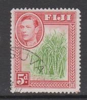 Fiji SG 259 1938-55  King George VI 5d Green And Scarlet,Used - Fiji (1970-...)