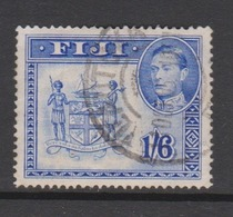 Fiji SG 263a 1938-55  King George VI 1Sh 6d  Blue,used - Fiji (1970-...)