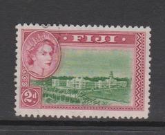 Fiji SG 283 1954 Queen Elizabeth II Definitives,2d Green And Magenta,used - Fiji (1970-...)