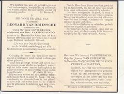 Leonard Van Driessche (1887-1951) ~ Oudstrijder (1914-1918) - Images Religieuses