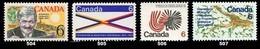 Canada (Scott No. 504-07 - 1969 Stamps) [**] - 1952-.... Règne D'Elizabeth II