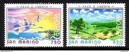 1995 San Marino Fauna Pajaros Birds Paisajes Scenery Europa 95 2v. Mint. - 1995