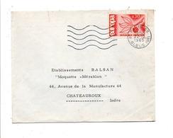 OBLITERATION MECANIQUE DE PARIS 83 1965 - Marcofilie (Brieven)
