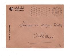 OBLITERATION MECANIQUE SUR LETTRE DE SERVICE DE SAINT FLORENT SUR CHER 1961 - Marcofilia (sobres)