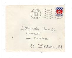 OBLITERATION MECANIQUE SUR DEVANT DE LETTRE DE AVORD CHER 1967 - Marcofilia (sobres)