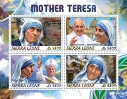 Sierra Leone   2018  Mother Teresa ,Pope John Paul II  S201806 - Sierra Leone (1961-...)