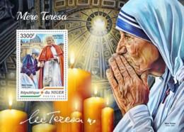 Niger  2018  Mother Teresa  , Pope John Paul II S201808 - Niger (1960-...)
