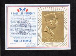 France / 1985 45é Ann. De L'Appel Du 18 Juin Du Général De Gaulle (Or 24 Carats) Cachet Temporaire Lille (souscription) - De Gaulle (Général)