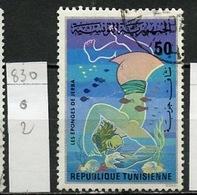 Tunisie - Tunesien - Tunisia 1976 Y&T N°830 - Michel N°892 (o) - 50m Les éponges - Tunesië (1956-...)