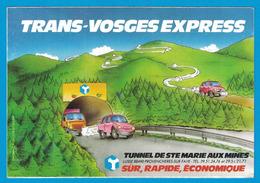AUTOCOLLANT TRANS-VOSGES EXPRESS TUNNEL DE STE MARIE AUX MINES LUSSE 88490 PROVENCHERES-SUR-FAVE SUR RAPIDE ECONOMIQUE - Autocollants