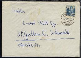 Württemberg Freimarke 75 Pfg. Auf Brief Ab Sulz 5.8.47 - French Zone