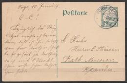 Togo (occupation Allemande) - EP CP Postkarte 5pf Vert Càpt PORTO SEGURO / 10.6.1914 Pour Mission Catholique à KPANDU - Colonie: Togo