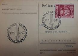 O) 1972 GERMANY, BENITO MUSSOLINI -ADOLFO HITTLER - PROPAGANDA ROME - BERLIN, STORM TROOPER EMBLEM CANCELLATION, XF - Germany