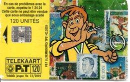 Timbre Stamp BD Télécarte P&T Luxembourg 120 Unités Phonecard  (G 189)) - Francobolli & Monete