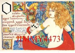 CPM - ALPHABET - Dessin De Serge Mogère - Tirage à 500 Ex - N° 13 - Edit. Des Escargophiles 1995 - Vintage Romance < 1960