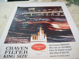 ANCIENNE PUBLICITE LE MANS ET CIGARETTE CRAVEN  1964 - Tabac (objets Liés)