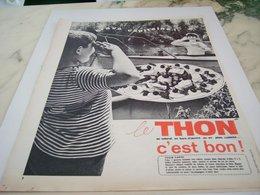 ANCIENNE PUBLICITE C EST BON LE THON NATUREL 1964 - Affiches