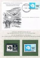 BRITISH ANTARCTIC TERRITORY • 1981 • ANTARCTIC TREATY • Unhinged Stamp, Silver Replica Stamp + First Day Cover - Territoire Antarctique Britannique  (BAT)