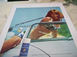 ANCIENNE  PUBLICITE LE HAIR SPRAY SET DE PANTENE 1964 - Perfume & Beauty