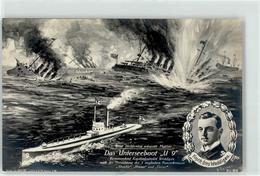 53045796 - Sign. Reimer U 9 Kapitaenleutnant Weddigen Propaganda WK I - Barche