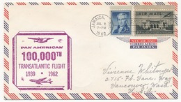 """ETATS UNIS - """"100 000° Vol Transatlantique - 1939 / 1962"""" Jamaique - 3c. 1961-... Briefe U. Dokumente"""