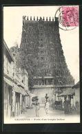 AK Calcutta, Porte D`un Temple Indien, Pagode - Inde