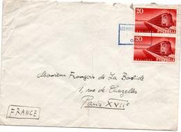 Les Ponts De Martel CMN 1966 - Lettre Brief Cover - Postmark Collection