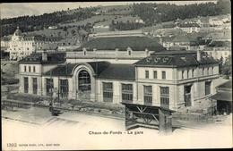 Cp La Chaux De Fonds Kanton Neuenburg, La Gare, Bahnhof, Gleisseite - NE Neuchâtel