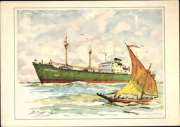 Artiste Cp Clausen, Dampfer MS Alfred Theodor, Alfred C. Toepfer, Hamburg Schifffahrtsgesellschaft - Schiffe