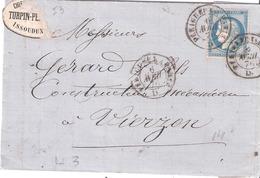 Ambulant De Nuit Type I  Dateur PERIGUEUX A PARIS - Postmark Collection (Covers)