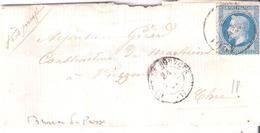 20c;Empire Lauré Oblitéré Bureau De Passe 4201 (VIERZON) à Coté GARE DE BOURGES Dateur Type 15 - Poste Ferroviaire