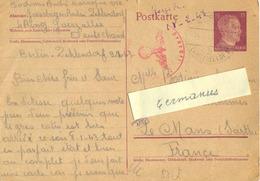 GUERRE 39-45 STO BERLIN-ZEHLENDORF ALLEMAGNE  Sur ENTIER Du 9-2-43 - Marcophilie (Lettres)