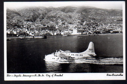 REF 403 : CPSM Portugal Madère Aquila Airways City Of Funchal Avion Hydravion - Aviation
