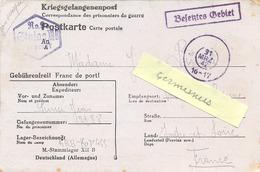 GUERRE 39-45 CORRESPONDANCE PRISONNIER DE GUERRE Français Au STALAG XII B  Frankenthal/Palatinate -  Rédigé Le 22-3-1942 - Storia Postale