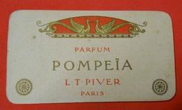 Carte Parfumée Pompeïa L.T.Piver Paris Calendrier 1917 - Vintage (until 1960)