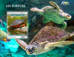 Djibouti 2019 Turtles Fauna Turtle S/S DJB190402 - Celebrità