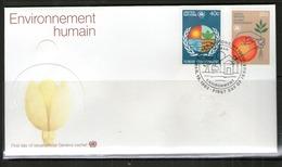 ONU NEW-YORK 1982 FDC ENVIRONNEMENT HUMAIN   YVERT  N°362/63  NEUF MNH** - New-York - Siège De L'ONU