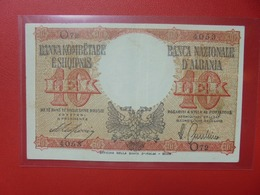 ALBANIE 10 LEK 1940 CIRCULER BELLE QUALITE (B.6) - Albanië