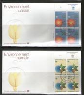 ONU GENEVE 1982 FDC ENVIRONNEMENT HUMAIN   YVERT  N°105/06  NEUF MNH** - Zonder Classificatie