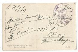 ARMEE FRANCAISE DE HONGRIE COMMISSARIAT DE GARE LJUBJAHA 1917 CARTE ZAGRED SERBIA - Marcofilia (sobres)