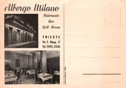 CPSM - TRIESTE - ALBERGO MILANO - Ristorante Bar ... - Trieste (Triest)