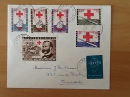Nr.1096/1101 + Nr.1112 Enveloppe Naar Tessenderlo 2-12-59. - Covers & Documents