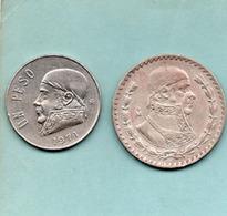 Mexique 2 Pieces 1 Peso 1958 1971 - Mexico