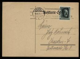 WW II Postkarte: Gebraucht Mit Sonderstempel Der Führer In Wien 1938 - Lettres & Documents