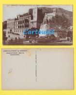 CPA Principauté MONACO MONTE CARLO Le PALAIS DU PRINCE  ♦♦☺avec Publicité Chocolaterie Et Biscuiterie Delta De Monaco - Terrassen